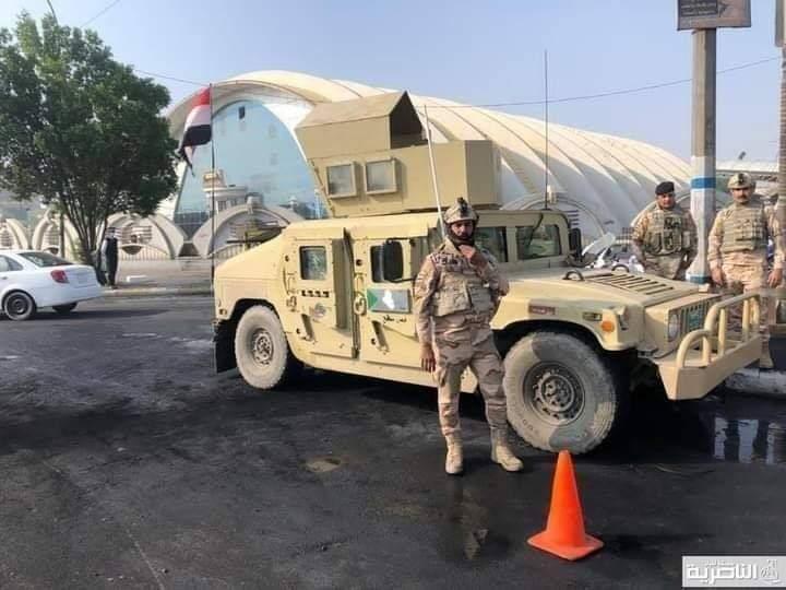 بالصور .. قوات الجيش والشرطة الاتحادية تنتشر في محيط ساحة الحبوبي لتأمين المتظاهرين