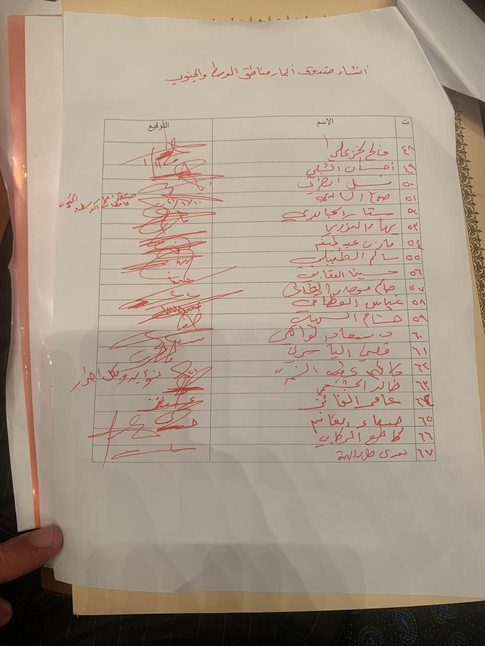 بالوثائق .. جمع تواقيع لانشاء صندوق اعمار محافظات الوسط والجنوب