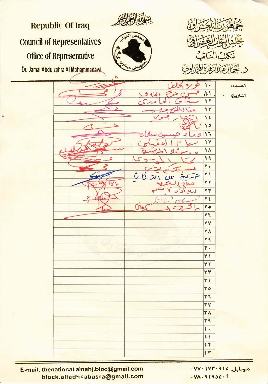 بالوثائق .. رئاسة البرلمان توافق على تحديد موعد استجواب محافظ البنك المركزي